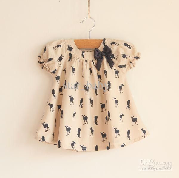 New fashion Girls T Shirt Kids TOPS short sleeve Blouse deer fawn pattern Children clothing outfit! B1301 - Free Shipping - Discount Sales - ChinaBestPrice.com