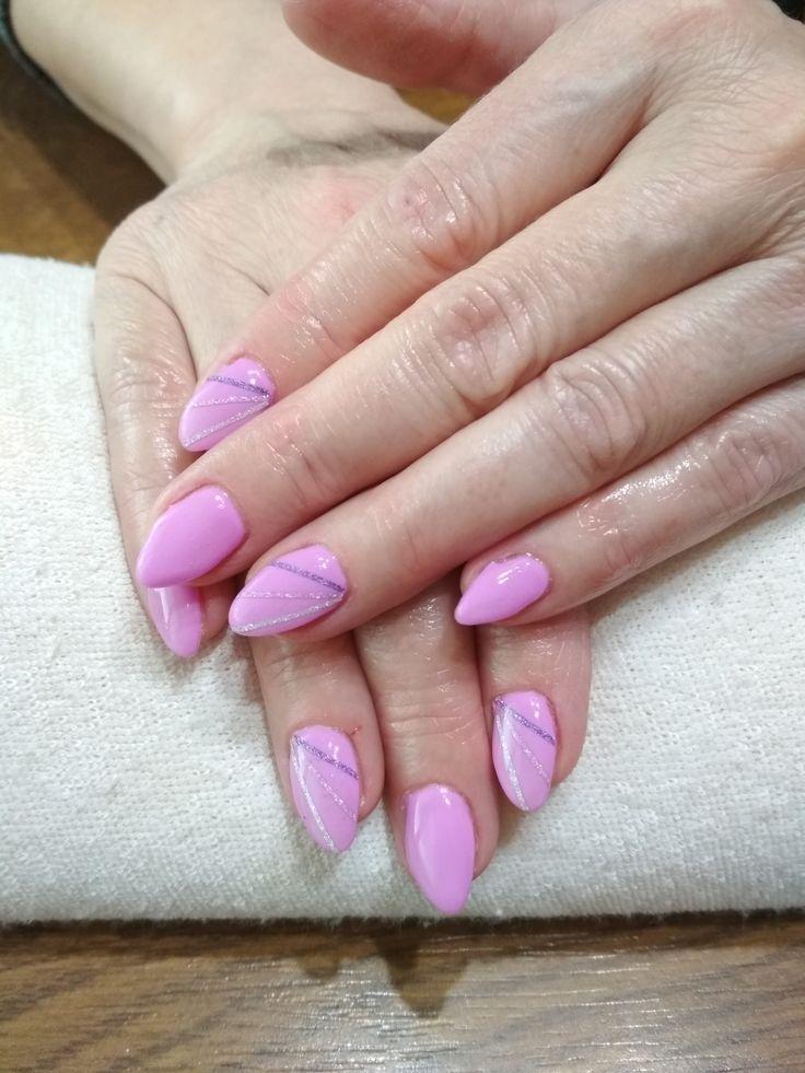 purple gel, purple stripes