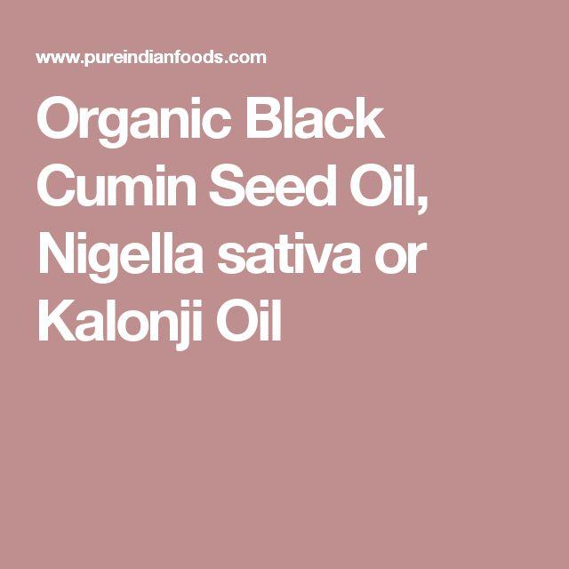 Organic Black Cumin Seed Oil, Nigella sativa or Kalonji Oil
