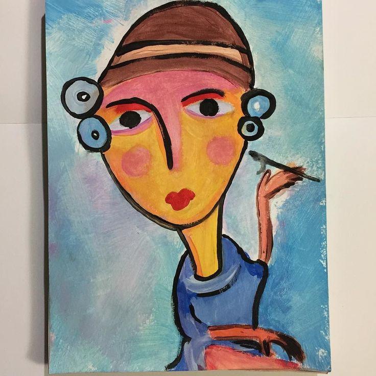 Años 20 chicas flappers con petacas y cigarettes   #artbrut #abstractart #rawart #outsiderart #art #guache #creepyart #artcontemporain #abstraction #instagood #creative #beautiful #dibujo #drawing #queerart #igart #doodle #contemporaryart #illustration #tempera #primitiveart #paper #instaart #sketchbook #instaartist #expressionism #artoftheday #modernart #rawartist