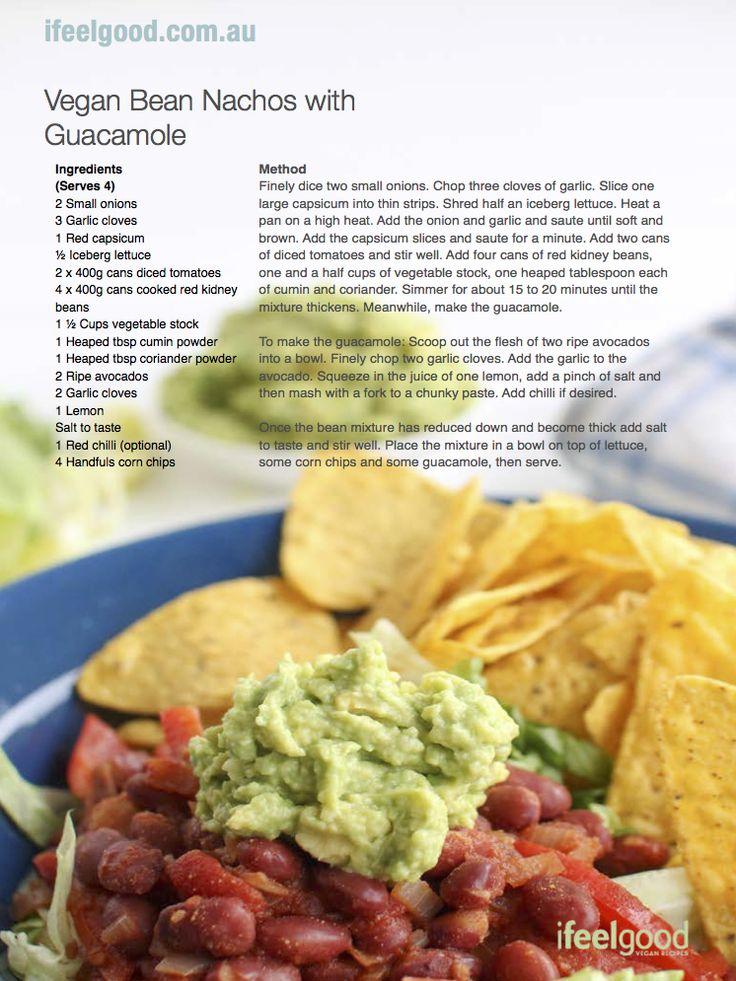 Vegan beans nachos