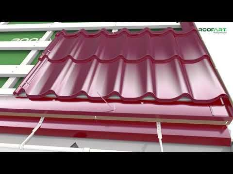 Umbrella Double Modular Metal Tile Mounting Guidelines For Double Pitched Roof Youtube Roof Cladding Roofing Roof Styles