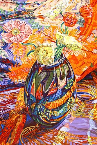 Janet fish painting floral still life