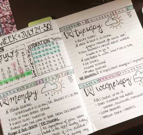 Yaaass. | 25 Satisfying Bullet Journal Layouts That'll Soothe Your Soul