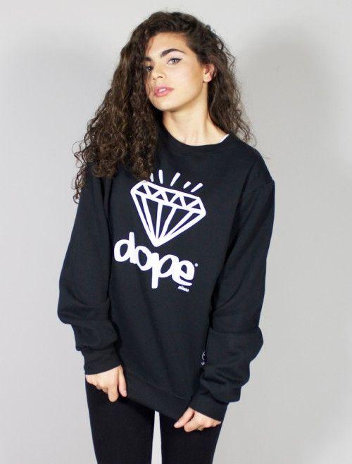 Sudadera negra #Dope Diamond.  En nuestra tienda online puedes descubrir las últimas tendencias en moda para chicos y chicas #swaggers con las sudaderas más originales y atrevidas. Compra toda la moda #Dope a unos precios increibles!  www.latiendajoven.com #moda #mujer #tiendaonline #sudaderas #chica #joven #tiendajoven #dope #swag #parental #black #online