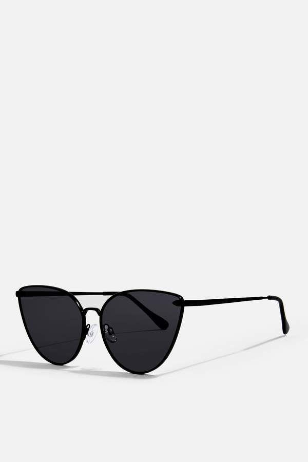 PHOENIX Black Metal Feline Sunglasses