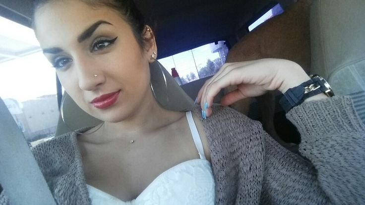 Chest dermal piercing #piercings#nosering#goldwatch#redlipstick#latina#acrylicnails#hoops#makeup