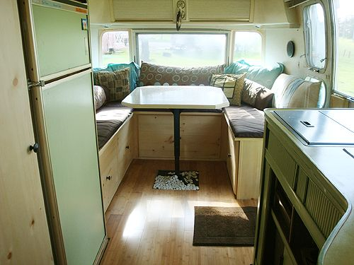 88 best airstream wrap around seating images on pinterest - Airstream replacement interior panels ...