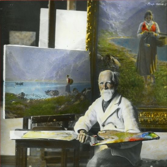 Hans Dahl Studio. Hans Dahl was a Norwegian painter and was famous for his paintings of Norwegian fjords and surrounding landscapes.