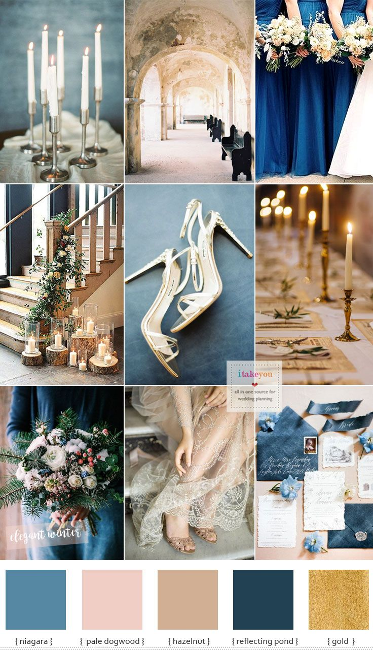 Blue and Gold Wedding Theme for Elegant Winter Wedding - Whether you choose to match your details perfectly or coordinate with highlight colours,winter affa