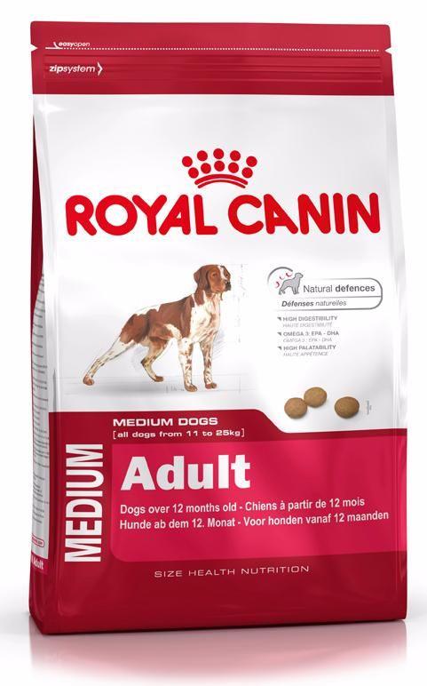 Корм для собак средних пород Роял Канин Медиум Эдалт от 11кг до 25кг , пак. 4кг