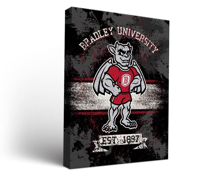Bradley Braves Classic Canvas Wall Art Rectangle