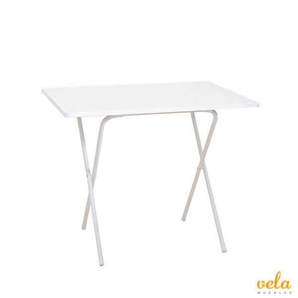 Mesa plegable (60 x 80 x 63 cm), color blanco