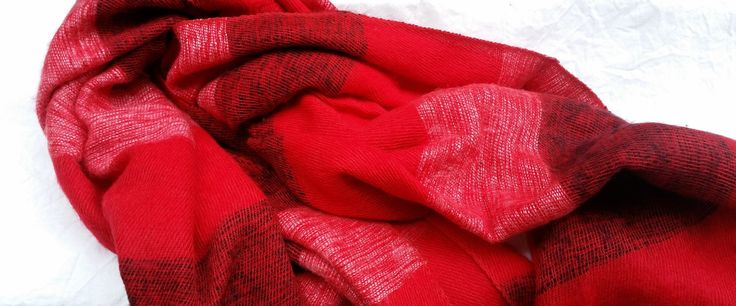 Red stripped shawl - Mayalu Nepalese Handmade Shawls by MayaluShawls on Etsy