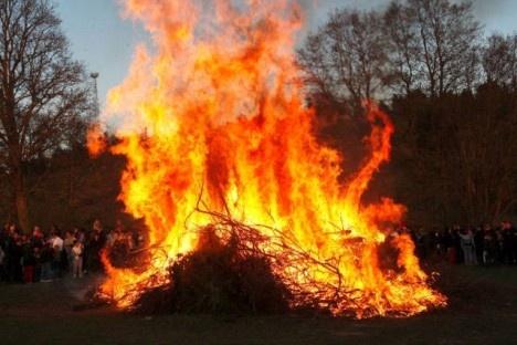 Valborgsmässoafton = Walpurgis night, celebrated on the 30th of April every year in Sweden.
