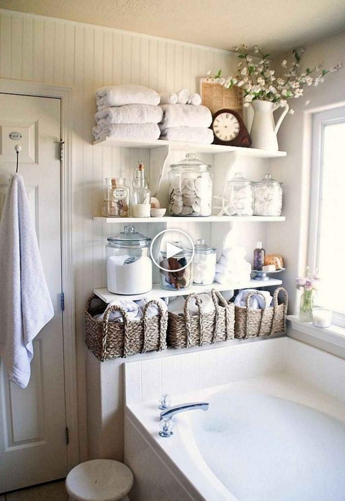 40 Beautiful Shabby Chic Bathroom Decoration Ideas Moderneba Shabby Chic Badezimmer Shabby Chic Zimmer Kleine Badaufbewahrung