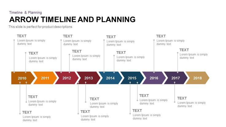 Arrow Timeline And Planning  Timeline  Planning Powerpoint And
