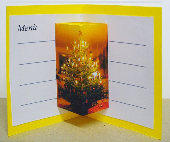 6 SEGNAPOSTI tavolo feste. 6 place cards for holidays table. Christmas holidays.