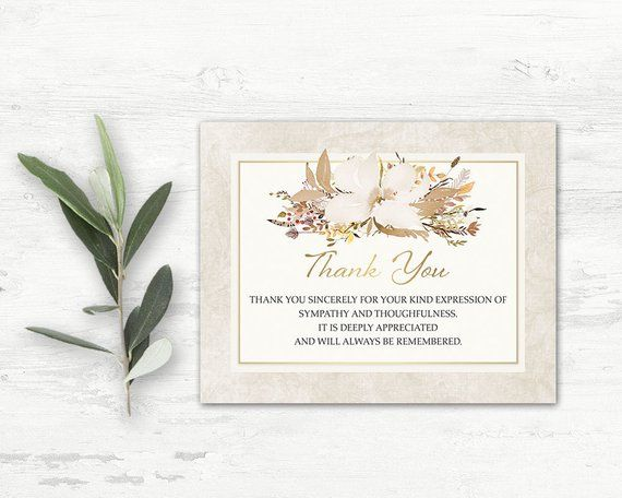 Funeral Thank You Card Printable Funeral Template Funeral