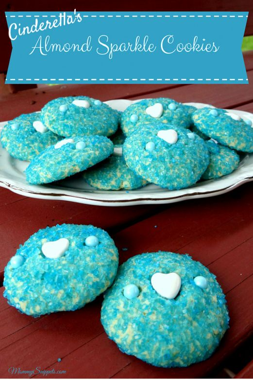 Cinderella's Almond Sparkle Cookies- Mommy Snippets