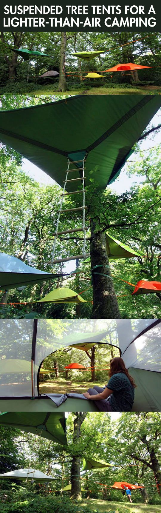Tree tents…it must be.... in-tense?! Hahahorf. But seriously, i would be paranoid of the bottom tearing in the middle of the night