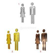 Man & Vrouw Wc Sticker WC Decals Wc Borden Toilet Wasruimte Signage Plaque Voor Winkel Office Home Hotel Restaurant Decor(China)