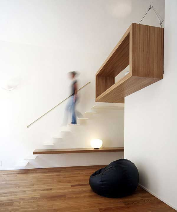 House Studio by Studioata 3 Beautiful Wood Insertions in a Modern Homes Interior Design