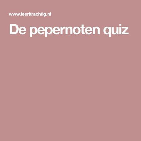 De pepernoten quiz