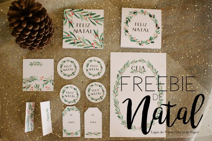 {FREEBIE} Tags   Menu   Cartão de Natal para Download