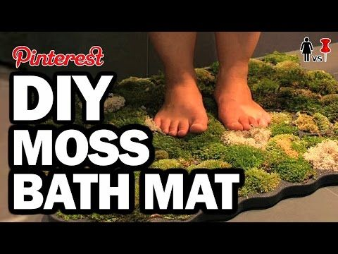 DIY Moss Bath Mat, Corinne VS Pin #28 - YouTube                                                                                                                                                                                 More