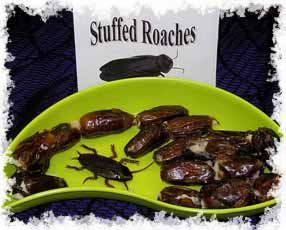 Halloween gross foods: stuffed roaches recipe