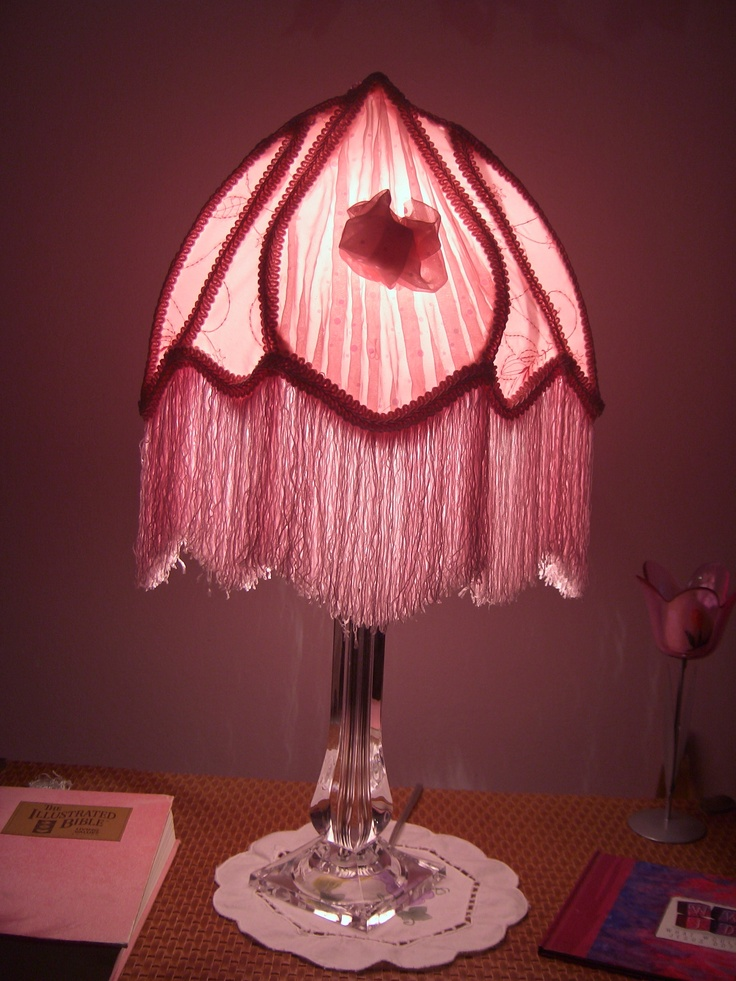 Pink Victorian Lamp Shade My Personal Craft Items