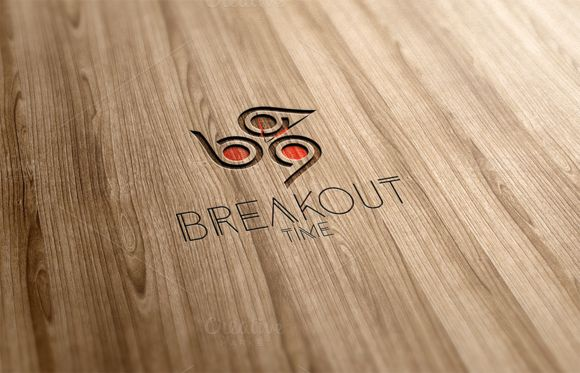 Breakout Time Logo Design by Florin Chitic on Creative Market
