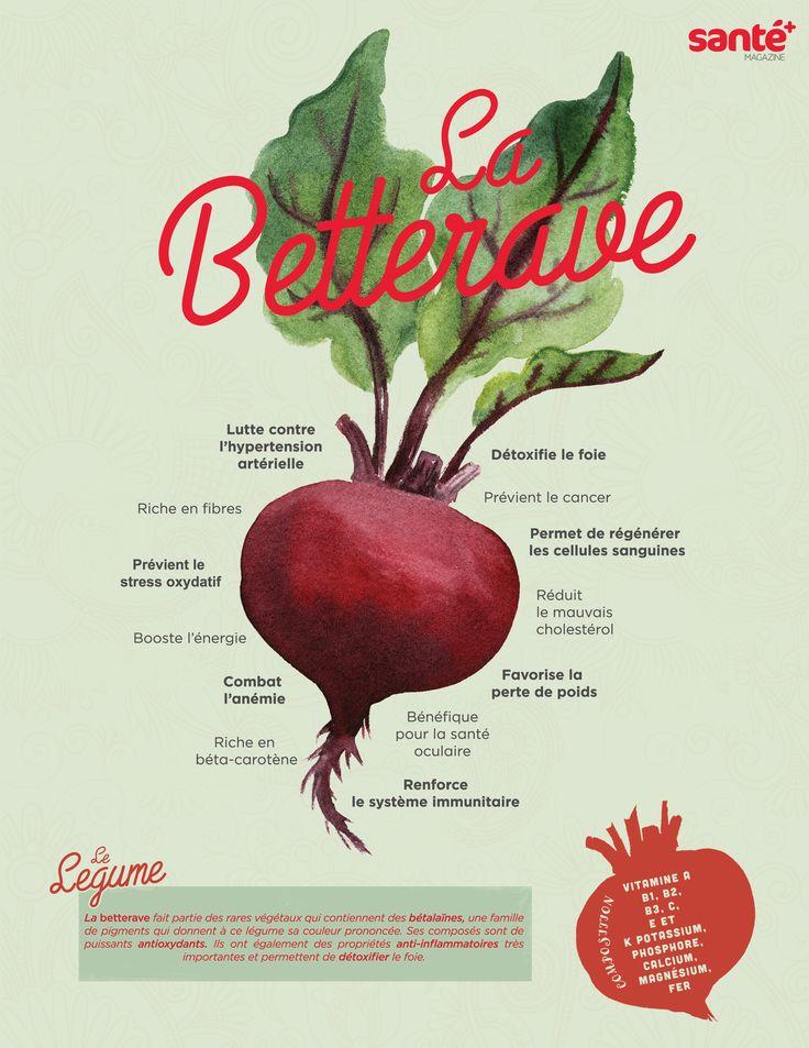 #Labetterave #bienfaits #vitamines #antioxydant #Santé #Nutrition #santeplusmag