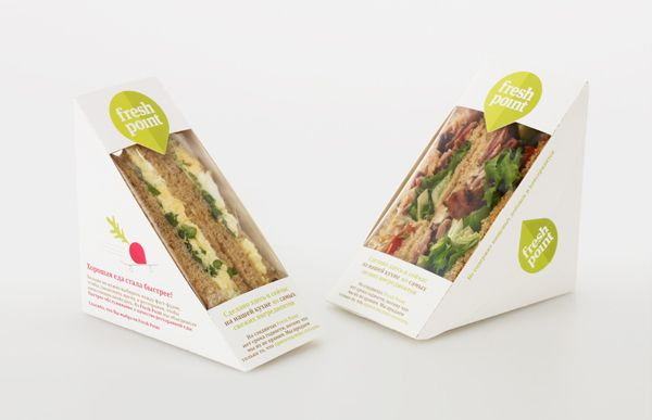 Fresh Point sandwich packaging created by Designers Anonymous.