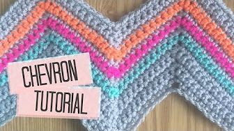 Crochet Chevron, Ripple, Zig Zag, Wave - Blanket Pattern - YouTube