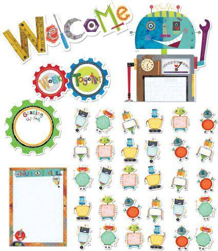 Creative Teaching Press Riveting Robots Bulletin Board Set (7049)