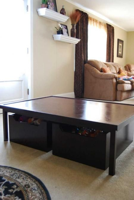 Exceptional Diy Train Table, Very Nice And Storage Underneath And I Get To Use It As · Pottery  Barn ...