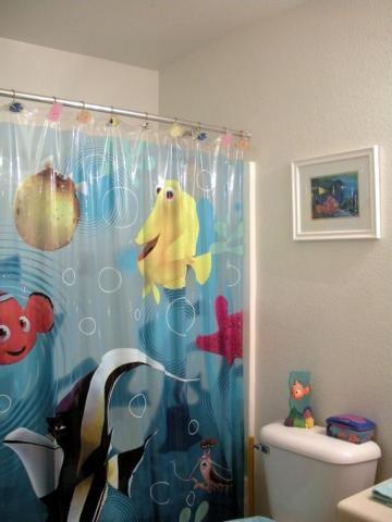 Finding Nemo Shower Curtain Bathroom Phoenix Arizona Home House Real Estate  Photo