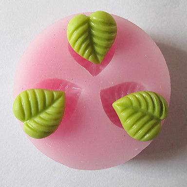 Drei Löcher Blatt verlässt Silikon-Form-Fondant-Zucker-Formen Bastelwerkzeuge Resin Blumen Form für Kuchen – EUR € 3.63