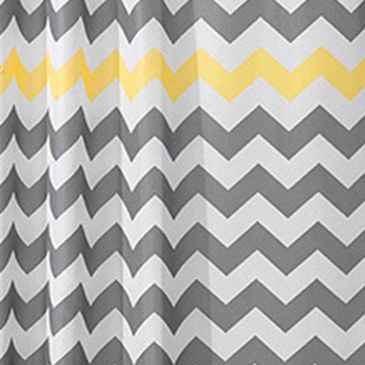 Simple Stripe Bathroom Curtain High-Quality Waterproof Shower Curtain Set 4464Hc