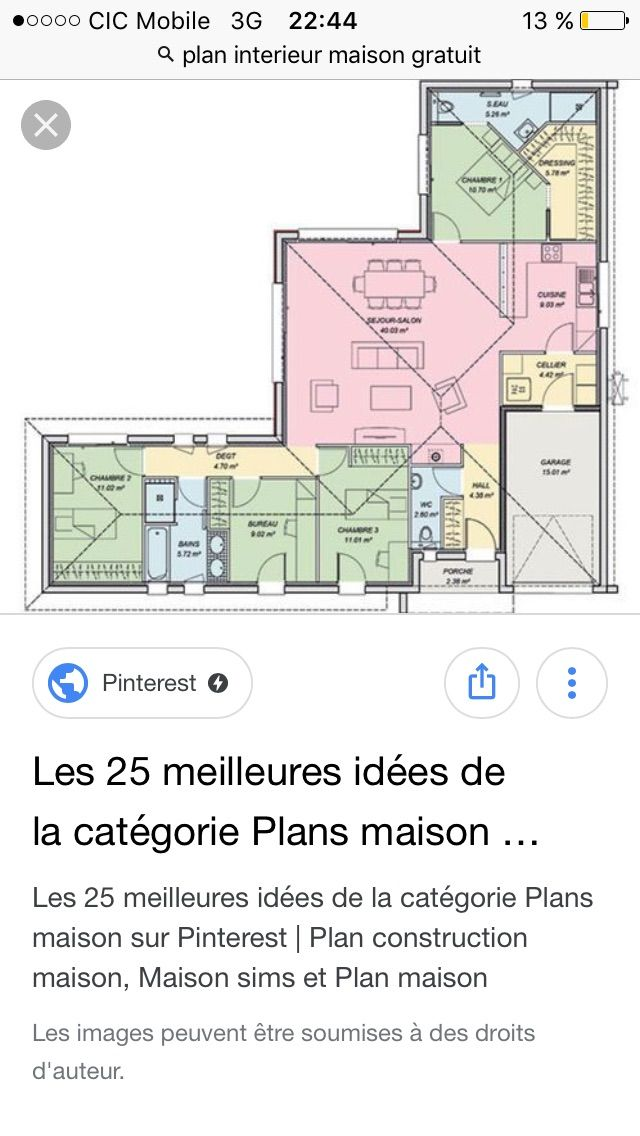 149 best Maisons images by LISE SIMONELLI on Pinterest Home plans - plan maison en 3d gratuit