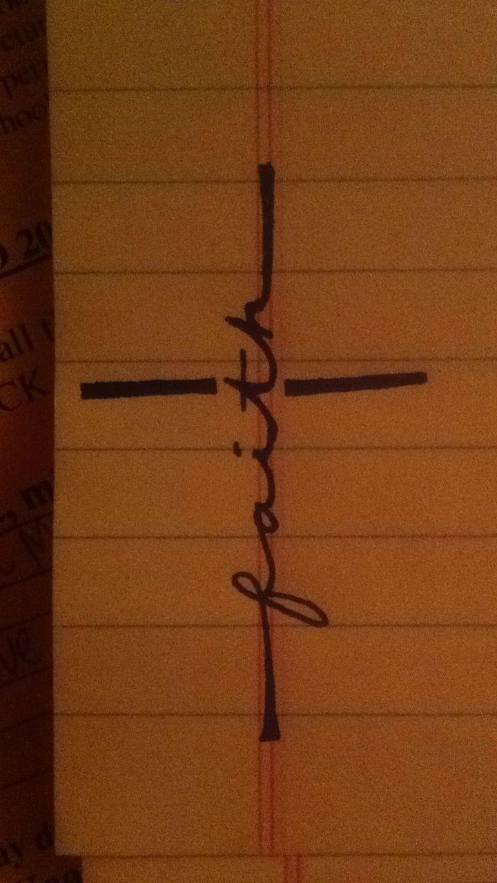 Tattoo ideas, Cross with the word Faith LOVE this!