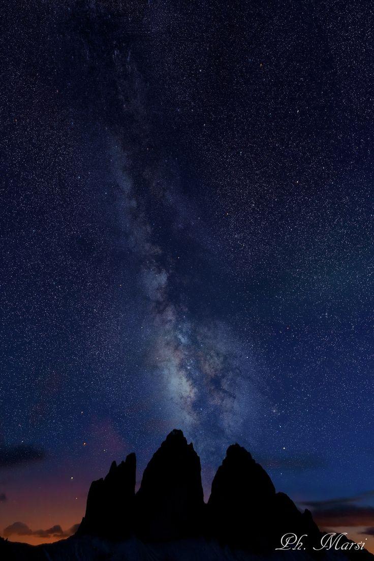 Three peaks on night by Stefano Marsi on 500px