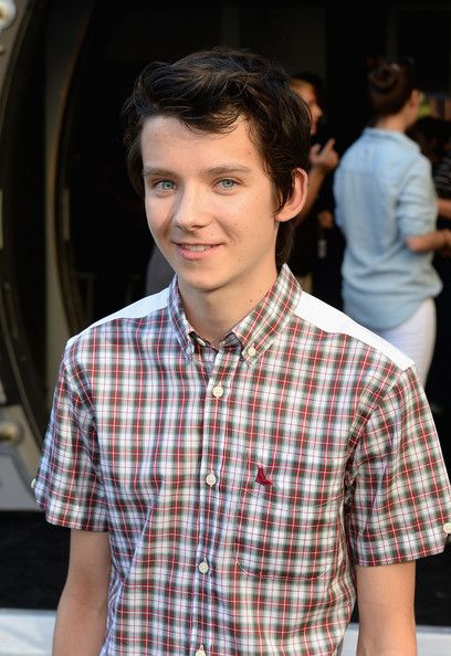 Asa butterfield-Merlin, Boy in the Striped Pajamas, Ender's Game, Hugo I'm roughly two weeks older than him :D HIS EYES!