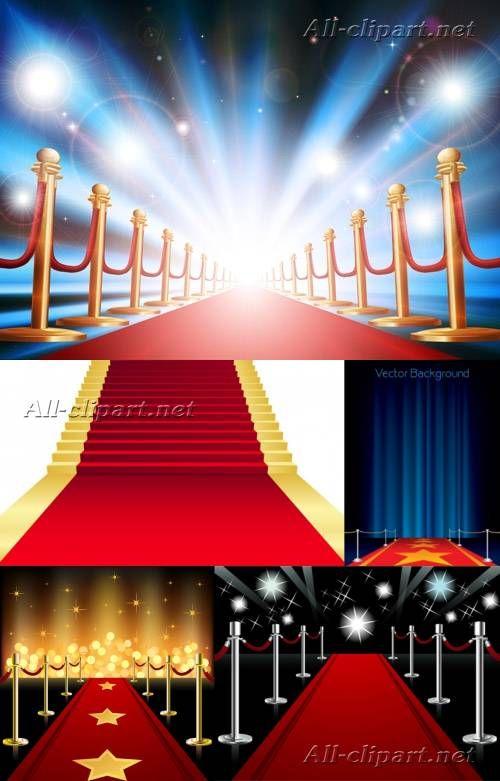Красная ковровая дорожка - векторный клипарт