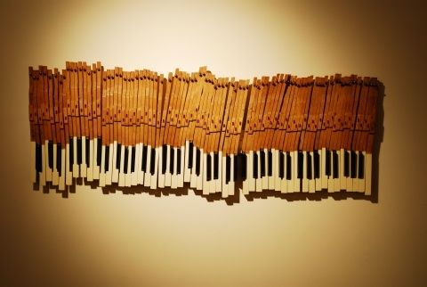 piano keys craft | Recycled piano keys | Crafts and crochet