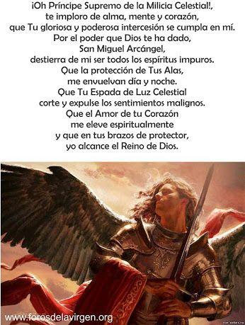 Oración a San Miguel Arcángel, Liberación y protección