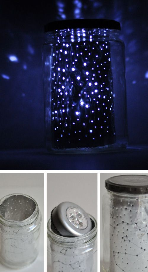 Luminaria estelar con tarros de vidrio