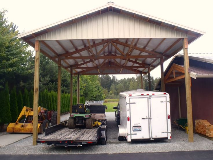 Spane builds basic RV and equipment storage shelters